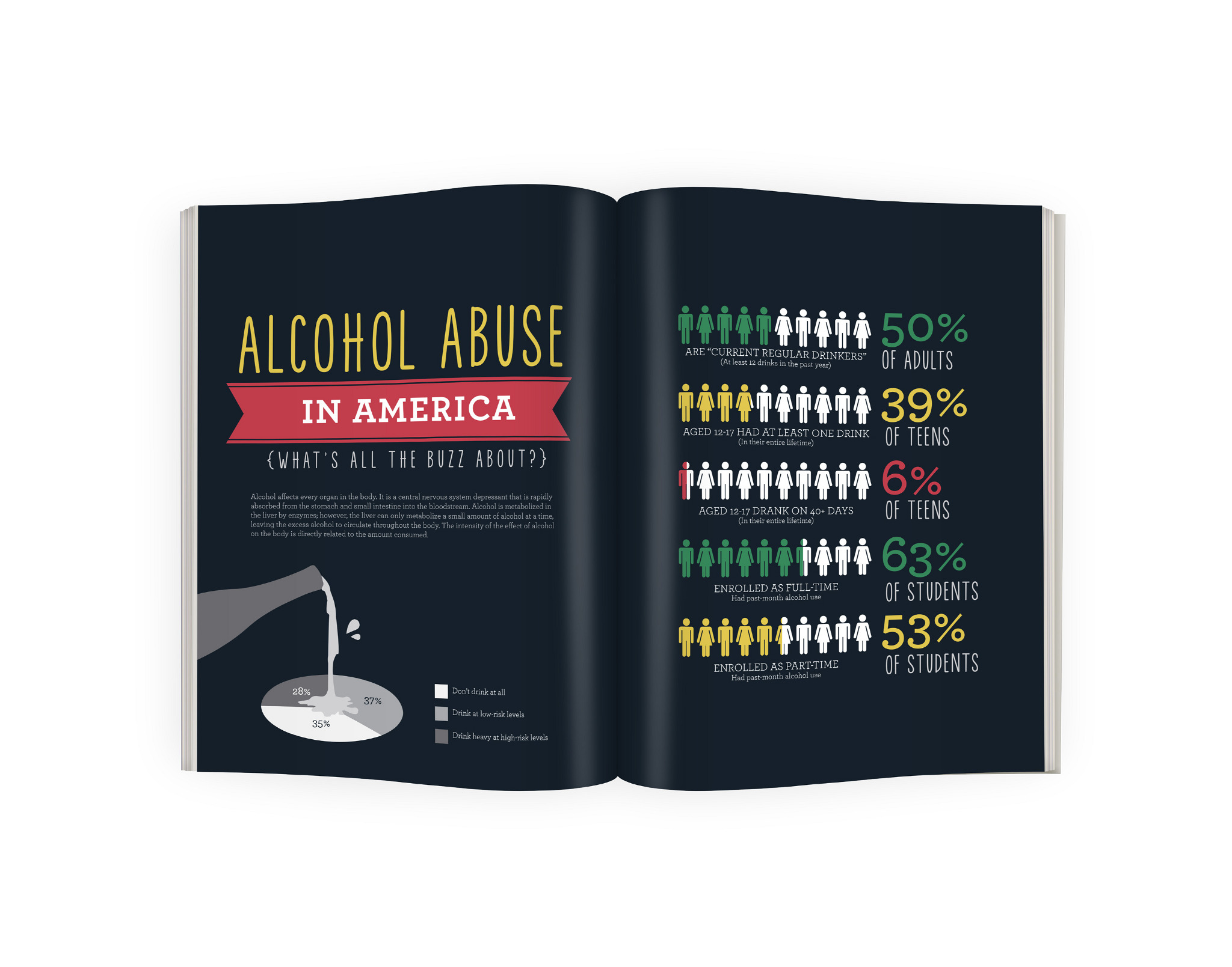 Alcohol Abuse Infographic Robert Navarro Design Art Direction